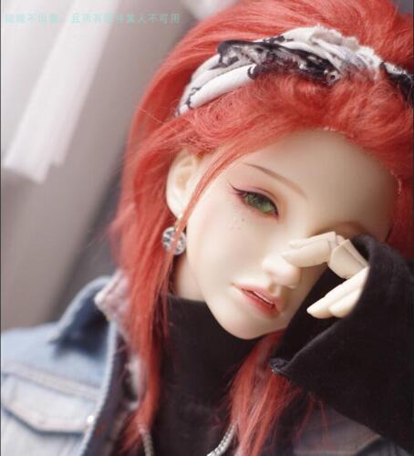 """New 8/""""-9/""""22-23cm BJD fabric fur wig Orange red for 1//3 Lovely Mini Doll Antiskid"""