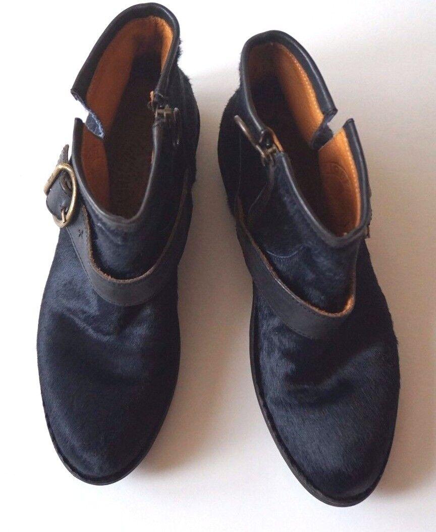 Nuovo senza Scatola Fiorentini  Baker Nero Polpaccio Pelliccia Fibbia Caviglia