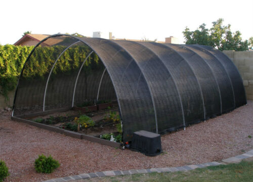 Agfabric 40/% Sunblock Shade Cloth with Grommets for Garden Patio 12'X24'Black