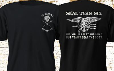 New SEAL TEAM 6 six devgru black squadron NSWDG Navy T Shirt S-4XL | eBay