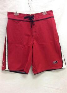 2301c29d3a Rip Curl Men's Strainer Board Short Swim Suit Red Black White Sz 30 ...