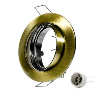 Telaio-Montaggio-GU10-Anello-a-Incasso-Decken-Spots-LED-Ottone-Verde-Spazzolato