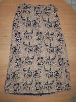 Talbots Paisley Side Zip 100% Silk Full Length Skirt Size 10 NWOT