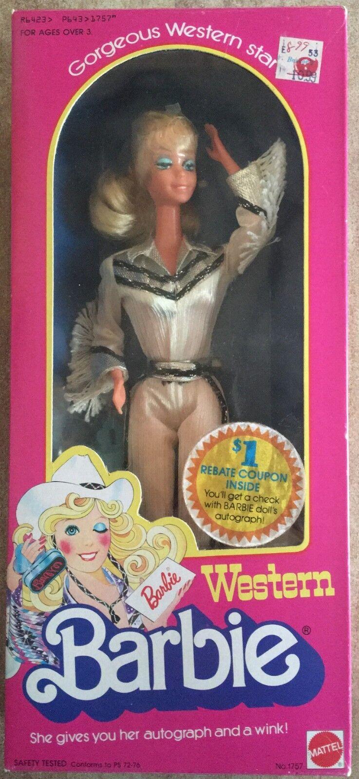 Barbie Western Mattel Vintage 80' Rara    negozio outlet