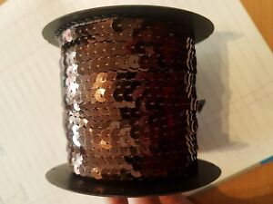 sew on string SEQUIN 6mm hologram coffee brown sequin dressmaking trim trimming