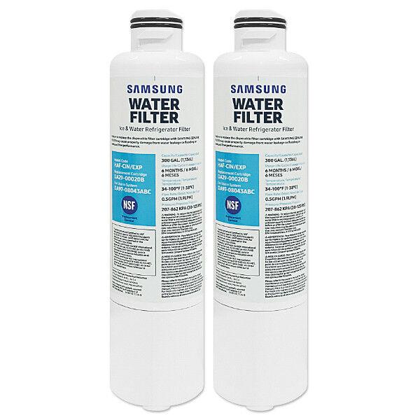 2 X Genuine Samsung Fridge eau Filter DA29-00020B HAF-CIN EXP DA97-08043ABC.