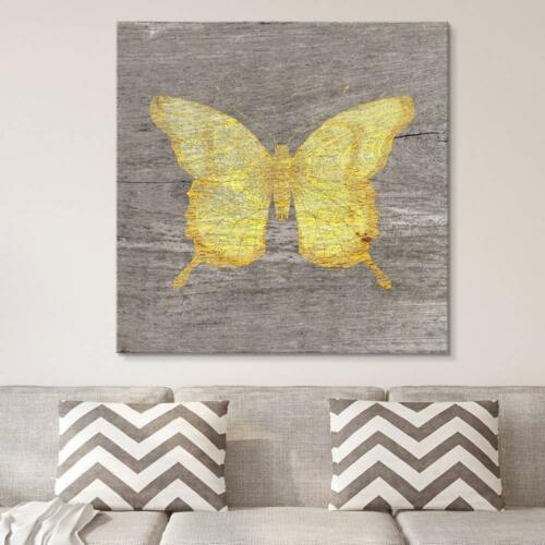 CVS 12x12 inches Square Yellow Butterfly Wood Effect Gallery Wall26