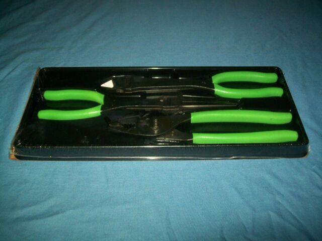 NEW Snap-on™ 3pc Heavy Duty Long Reach Pliers Set PL330ACF Red Vinyl Grip Sealed