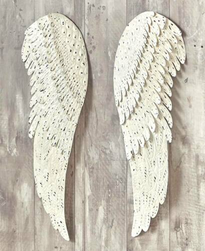 2 METAL CHERUB ANGEL WINGS WALL ART Modern Contemporary Sculpture Mom Religious