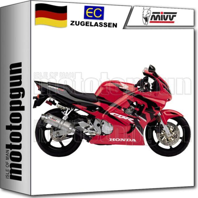 OVAL,Edelstahl,Motorrad MIVV-Auspuff HONDA CBR 600 F Bj.91-98