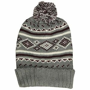 fbdcd96fab4 Details about Soul Star New Nordic Knit Bobble Beanie Hat Knitted Ski Snow  Winter Style Unisex