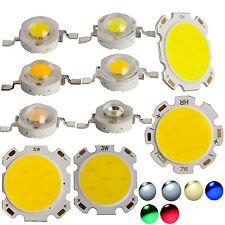 10x 50x 1W 3W 5W 7W SMD COB LED Chip High Power Beads Light Warm/Cool White Lamp