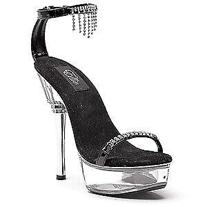 SIZE-8-Ellie-Shoes-6-034-Rhinestone-Heel-Sandal-W-Rhinestone-Upper-ZSAZSA-BRAND-NEW