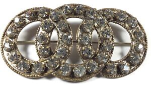 Antique-Rhinestone-Pin-Art-Deco-Brooch-Circles-with-Wedge-Set-Stones-1910-1920