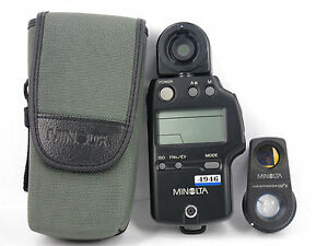 minolta auto meter iv f flash light meter w viewfinder 10 ii case rh cafr ebay ca Minolta Flash Meter IV Manual Luminance Meter