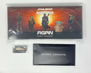 Sealed-Figpin-LE-2900-The-Mandalorian-Deluxe-Set-5-Logo-Pin-included