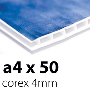 A4 4mm Corex x 50 Sign BoardsPrinted UV Full ColourFree Delivery!