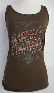 Harley-Davidson-Women-039-s-Gunslinger-Aleeveless-Tank-Top-Cocoa-Color-Wmn-Sz-Medium