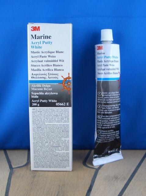 200g 3M Marine Acryl Putty White Acryl Paste 05662 E weiß Gelcoatspachtel 1-Komp