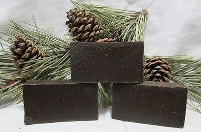 """PINE TAR SOAP W/SILVER SOL """"MADE THE OLDWAY"""" 3 BARS $13.95"""