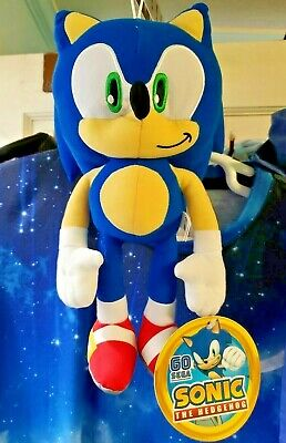 "TOY FACTORY GO SEGA PRIZE AUTHENTIC LICENSED 12/"" SONIC THE HEDGEHOG NEW PLUSH"