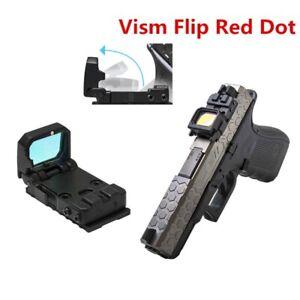 Flip Up Red Dot Pistol Sight Reflex Sight RMR Scope Mount MOS Glock Mount Rifle