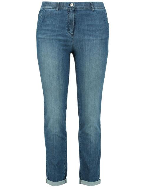 Samoon Jeans Stretchhose Betty by Gerry Weber verkürzte Form Neu blau Damen Gr.