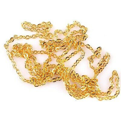 10m New Arrival Plating Gold 0.6 Flat-Pressing Imitation Gold Chain Making BS