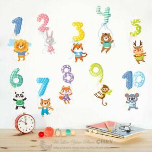 Educational-Numbers-1-10-Kids-Wall-Stickers-Nursery-Decor-Vinyl-Decal-Art-Mural