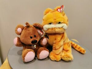 TY-Beanie-Buddies-Garfield-amp-Pooky-From-Garfield-Movie-2004-New-w-All-Tags