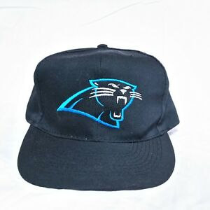 b9a5dfc6 Details about VTG 90s Carolina Panthers American Needle Snapback Hat  Blockhead Otto NFL Cap