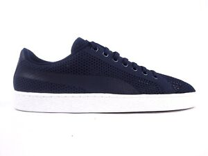 separation shoes 3c6f1 4ffbf Details about Mens Puma Basket Classic evoKnit 363180 05 Peacoat Lace Up  Casual Trainers
