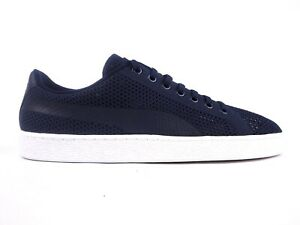 separation shoes 598e5 684ed Details about Mens Puma Basket Classic evoKnit 363180 05 Peacoat Lace Up  Casual Trainers
