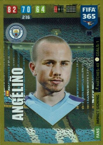 Panini Adrenalyn XL fifa 365 2020 Impact signing nº 50 angelino manchester