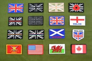 UK-British-Army-Patches-Flashes-Insignia-Embroidered-Rubberised-Flag-Patch-Badge