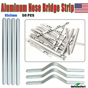 Adjustable Nose Clips Wire for DIY Face Mask Making Accessories for Sewing Crafts 50PCS Aluminum Metal Nose Strip Nose Bridge Strip