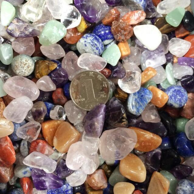 50g Raw Gem Mix Quartz Crystal Mini Stone Rock Chips Specimens Healing Craft