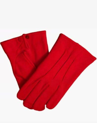 Cuir Peau De Mouton Gants Rouge Hommes