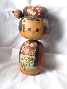 Rare-Find-Vintage-KoKeShi-Japanese-Large-Figure-Doll-Swivel-Head-Hand-Painted