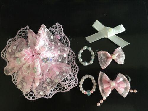 3 arcs *** LPS Chien exclu ** 2 colliers une rose robe de fantaisie 6 LPs Accessoires