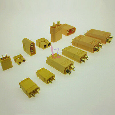 5 Pairs XT90 High Current  4.5 mm AMASS Gold Banana Plug Socket Battery Lipo