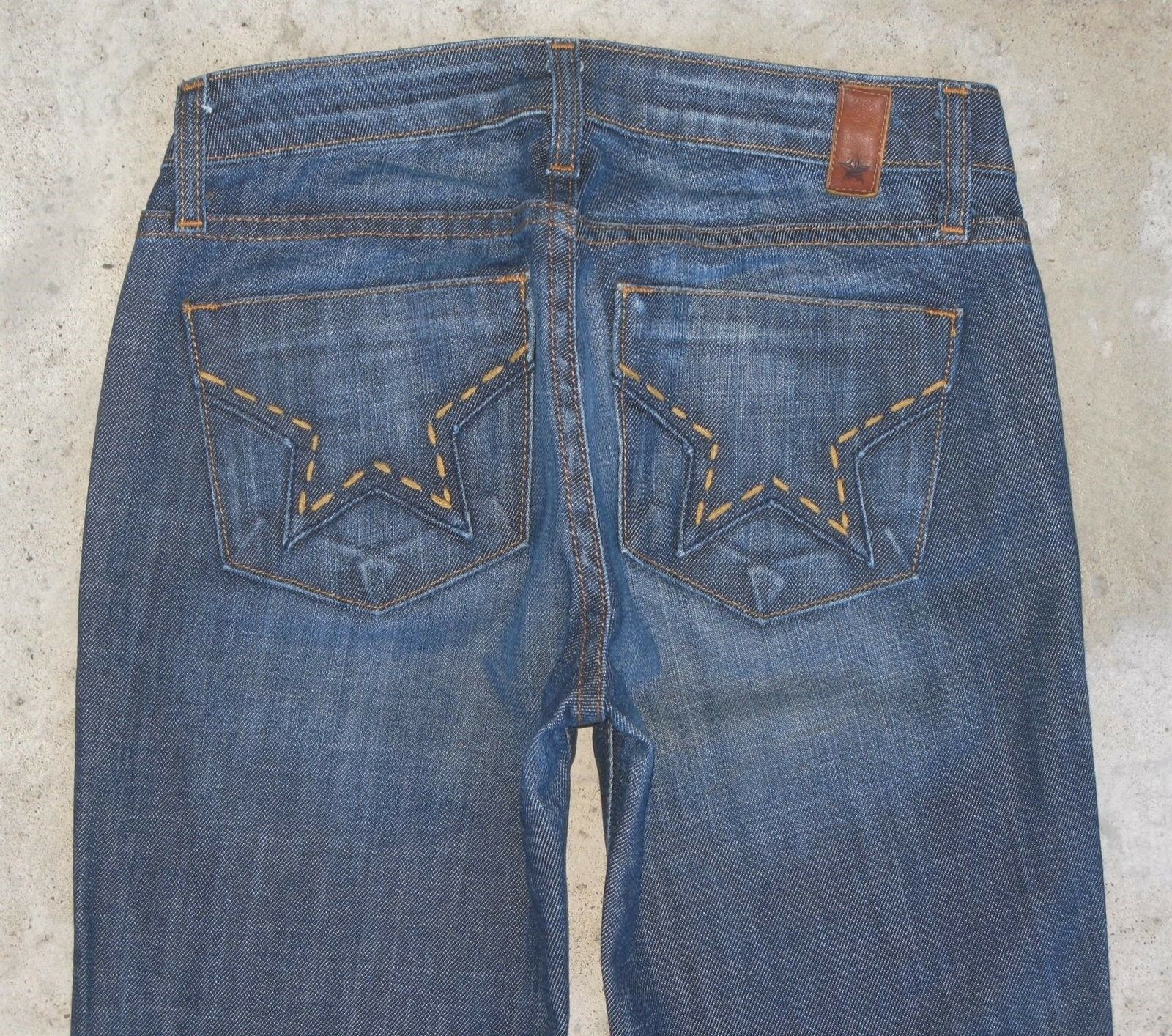 People's Liberation Jeans Bella Bootcut Sz 25 w Star Pocs Distressed
