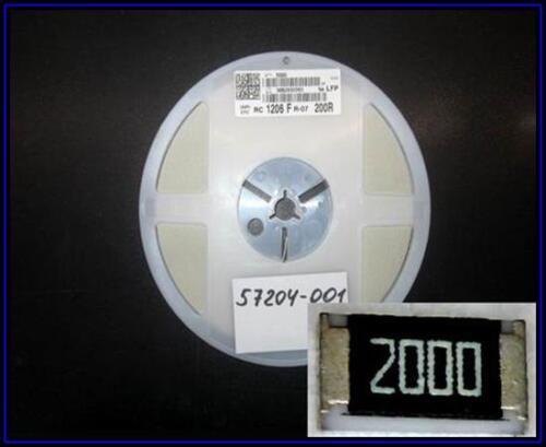 SMD resistencia resistencia 200 Ohm 200r 0,25w 1/% 1206 1 xrolle 5000 unid.