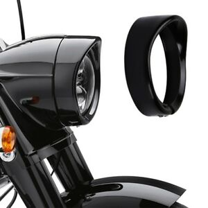 7-034-Headlight-Passing-Lights-Lamp-Decorate-Trim-Ring-Cover-For-Harley-Davidson