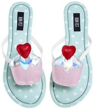 New Iron Fist  women' s GHASTLY HEART flat Sandals Shoes Size 37 US 6