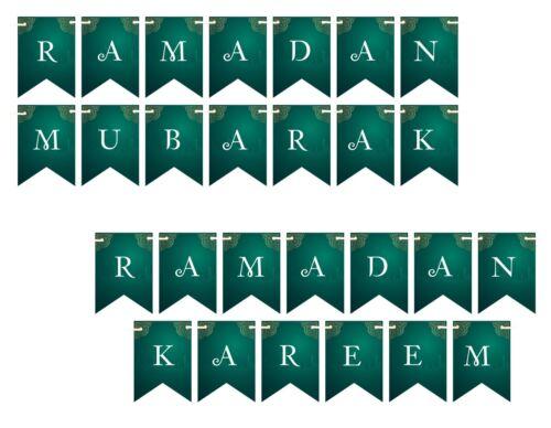 Ramadan Mubarak Kareem Mabrook Bunting Flags Islamic Decorations Banner