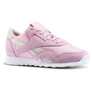 Reebok-Classic-Trainer-Womens-Trainer-Shoe-Size-4-Pink-White