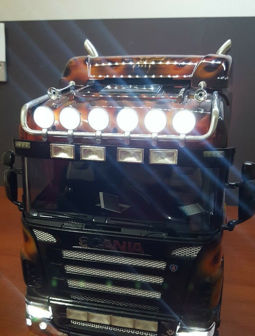 1/14 Tamiya RC Camión Scania 4x2 LIGHTBAR Set V1 170mm frontal y lateral de techo