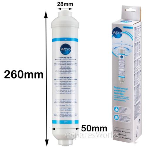 WPRO USC100 esterno Inline Filtro acqua per LG Samsung Frigorifero Congelatore