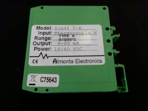 Almonta Electronics ALM48T-K 4-20MA14-40VDC Transmisor De Rango Fijo termopar